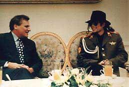 Prezydent Kwaśniewski i Michael Jackson