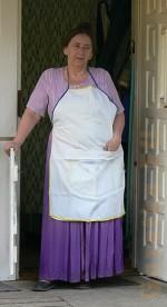 Babcia w fartuchu